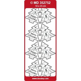 Sticker Stickers, etiketten als kerstbomen