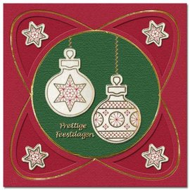 REDDY Embroider stickers, Christmas ball for