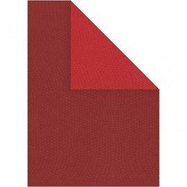 Karten und Scrapbooking Papier, Papier blöcke 10 Bogen Strukturkarton, A4 21x30 cm, rot, Extra KLASSE