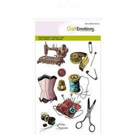 Crealies und CraftEmotions Transparent stamp, issue: Sewing