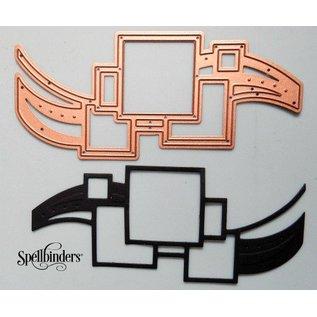 Spellbinders und Rayher Stanz- und Prägeschablone, Spellbinders, Bordüre mit Vierecke