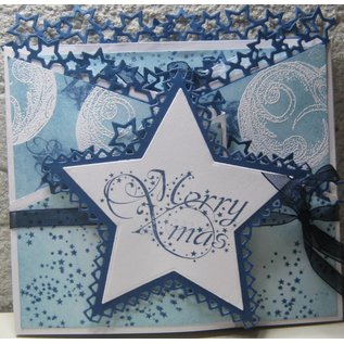 Marianne Design Coupe et gaufrage pochoirs, frontière avec étoiles