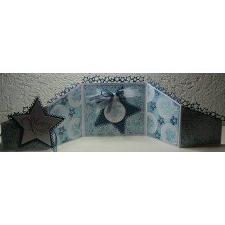 Marianne Design Skæring og prægning stencils, grænsen til stjerne