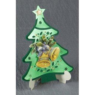 Exclusives Bastelset für 2 Weihnachtskarten + Kartenhalter