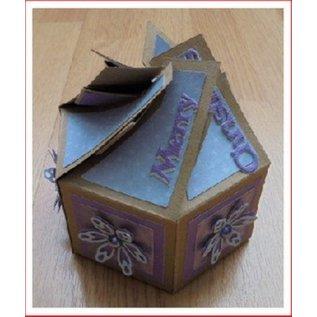 Crealies und CraftEmotions sechsseitige Box 7 x 14 cm