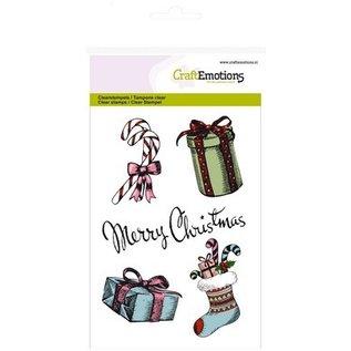 Crealies und CraftEmotions Gennemsigtige frimærker, A6, julemotiver