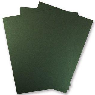 Karten und Scrapbooking Papier, Papier blöcke 1 Bogen Metallic Karton, in brilliant grün!