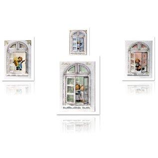 Joy!Crafts / Hobby Solutions Dies Bastelset: Fensterkarten, M.I.Hummel, Engelchen