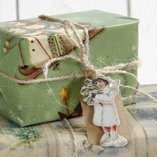 Embellishments / Verzierungen 24 Angel, de bois, de 6 différents