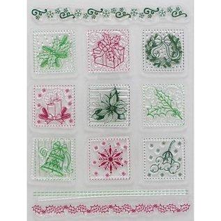 My paperworld (Viva Decor) Gennemsigtige frimærker, julemotiver