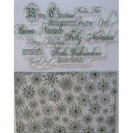VIVA DEKOR (MY PAPERWORLD) Selos transparentes, cristais de gelo e saudações de Natal em vários idiomas