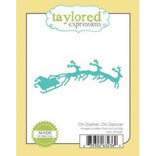 Taylored Expressions Skæring og prægning stencils, slæde med rensdyr 3