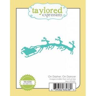 Taylored Expressions Stanz- und Prägeschablonen, Schlitten mit 3 Rentiere