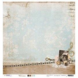 Designer Papier Scrapbooking: 30,5 x 30,5 cm Papier Designer Bow, 30.5 x 30.5cm Winter Memories NR02