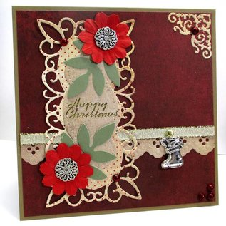 Marianne Design Coupe et de gaufrage pochoirs, cadre décoratif + 2 feuilles