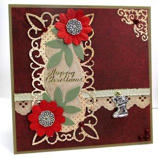 Marianne Design Stanz- und Prägeschablonen, Zierrahmen + 2 Blätter