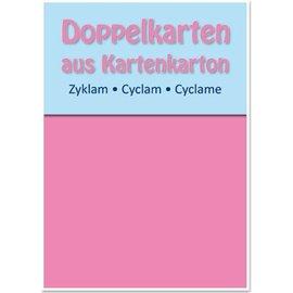 KARTEN und Zubehör / Cards 5 Doppelkarten A6, zyklam, 250 g / qm