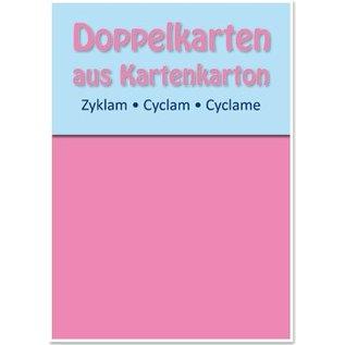 KARTEN und Zubehör / Cards 5 cartes doubles A6, zyklam, 250 g / m²
