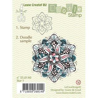 Leane Creatief - Lea'bilities Gennemsigtige frimærker, Doodle stjerne