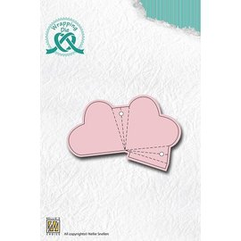 Nellie Snellen Punching and embossing template for designing heart bay elks