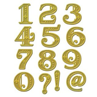 Spellbinders und Rayher Skæring og prægning stencils, Shapeabilities, victorianske tal