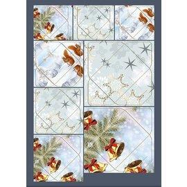 KARTEN und Zubehör / Cards Rigtig god idé! Mini konvolutter med egern, filialer, klokker, stjerne motiver