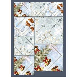 KARTEN und Zubehör / Cards Excellente idée! Mini enveloppes avec écureuils, des branches, des cloches, des motifs étoilés