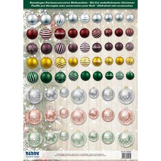 Embellishments / Verzierungen Excellente idée! feuilles coupées Die avec des boules de Noël de carte de 250g stock A4