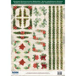 Embellishments / Verzierungen Die feuilles coupées avec des coins et les bordures de carte de 250g de stock, A4