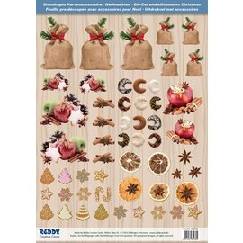 Embellishments / Verzierungen Die tagliare foglio con Weihnachtsgebaeck, mele al forno dalla scheda 250g magazzino, A4