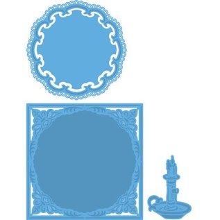 Marianne Design Skæring og prægning stencils, 2 og 1 ramme lysestage
