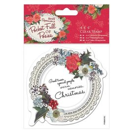 Docrafts / Papermania / Urban Transparent Stempel, Doily Label