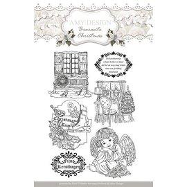 AMY DESIGN AMY DESIGN, Transparente frimærker, Amy Design, julmotiver og engel