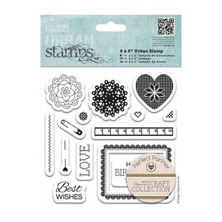 Docrafts / Papermania / Urban Gummi Stempel, Urban Stamps, Kollektion