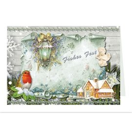 BASTELSETS / CRAFT KITS Bastelmappe zur Gestaltung von 8 Weihnachtskarten