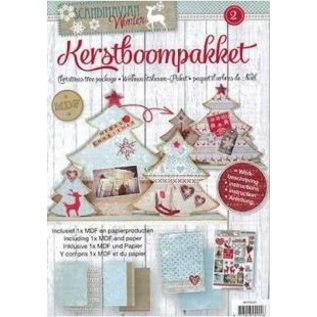 Objekten zum Dekorieren / objects for decorating MDF Bastelset juletræer