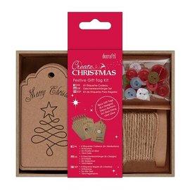 Komplett Sets / Kits Bastelset para a concepção de etiquetas do presente de Natal