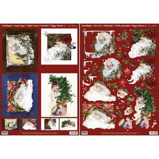 BILDER / PICTURES: Studio Light, Staf Wesenbeek, Willem Haenraets Cartes de Noël Set: feuilles Die 3D coupées, Santas, dont 4 cartes doubles