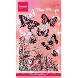 """Marianne Design Transparent stempel, """"sommerfugler og blomster"""""""