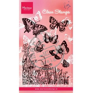 """Marianne Design Transparent stempel, """"sommerfugle og blomster"""""""