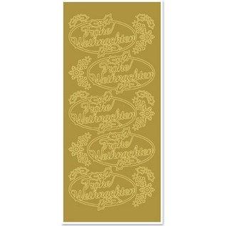 Sticker Sticker, Frohes Weihnachten, gold