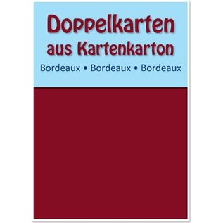 KARTEN und Zubehör / Cards 10 cartes doubles A6, Claret, 250 g / m²