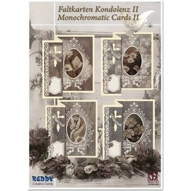 BASTELSETS / CRAFT KITS Condoglianze pieghevoli per 4 carte + buste