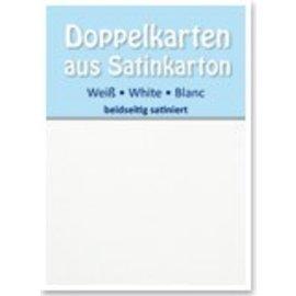 KARTEN und Zubehör / Cards 5 Satin doppie carte A6, entrambe le parti raso