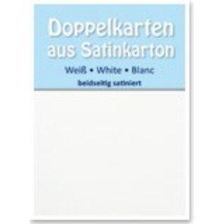 KARTEN und Zubehör / Cards 5 Satin dubbele kaarten A6, aan beide zijden satijn