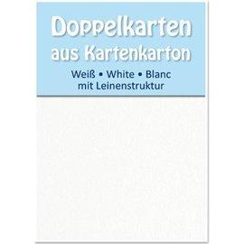 KARTEN und Zubehör / Cards 5 de cetim cartões duplas A6, ambos os lados do cetim com textura de linho