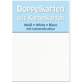 KARTEN und Zubehör / Cards 5 satin cartes doubles A6, les deux parties en satin avec texture de lin