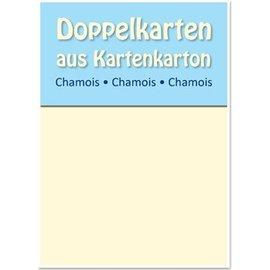KARTEN und Zubehör / Cards 10 cetim cartões de duplas A6, Chamois