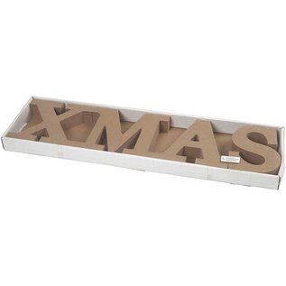 Objekten zum Dekorieren / objects for decorating Buchstaben, XMAS mit Einsatz für Kerzen