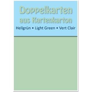 KARTEN und Zubehör / Cards 10 Doppelkarten A6, hellgrün, 250 g / qm